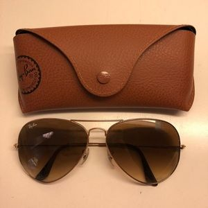 RAY BANS BROWN GRADIENT LARGE AVIATOR